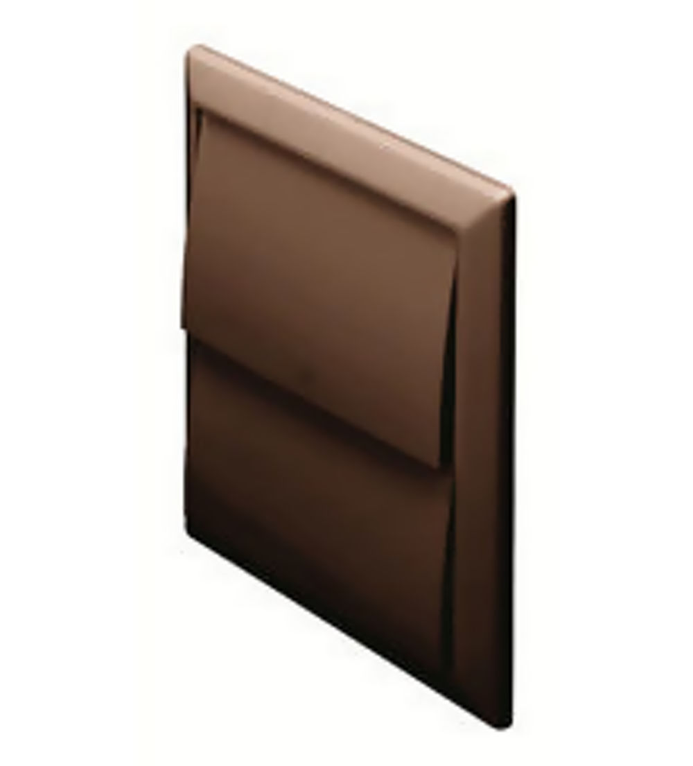 100mm Wall Outlet with Gravity Flaps Brown 44910B
