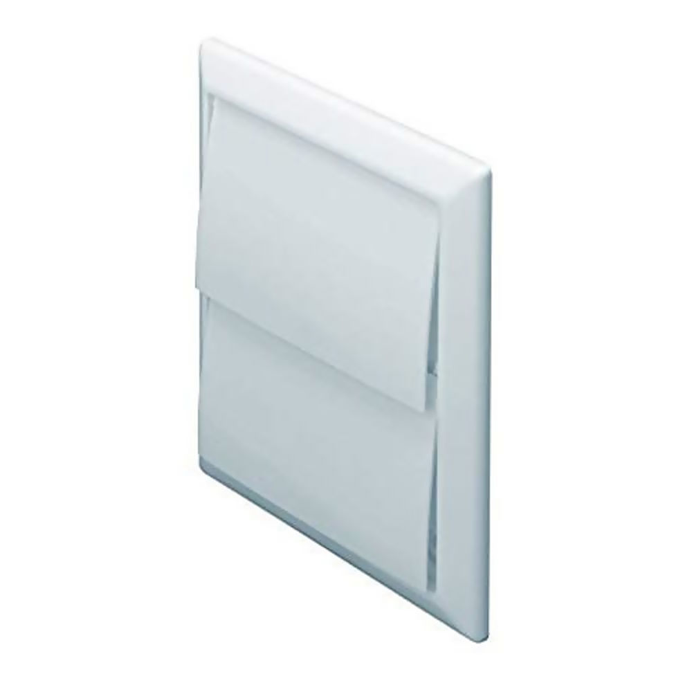 100mm Wall Outlet with Gravity Flaps White 44910W