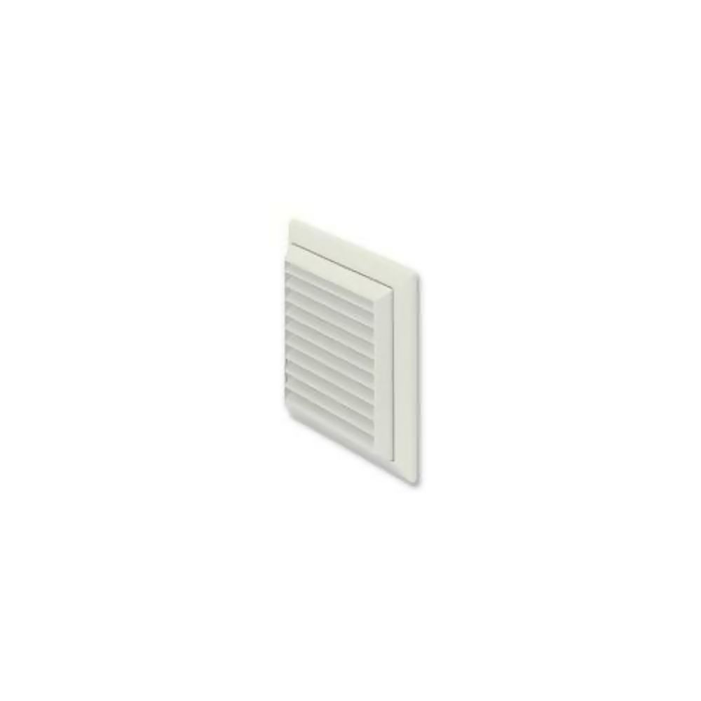 100mm Wall Outlet with Louvred Grille White 44954W