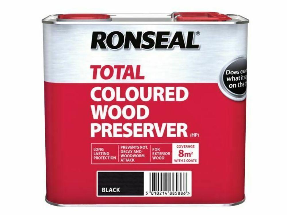 Ronseal Total Black Wood Preserver 2.5Ltr Ref 38588