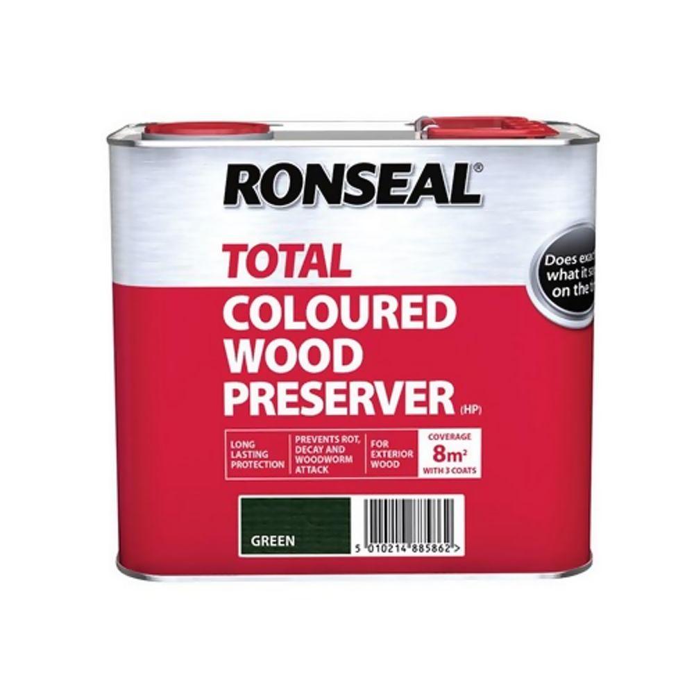 Ronseal Total Dark Green Wood Preserver 2.5Ltr Ref 38586