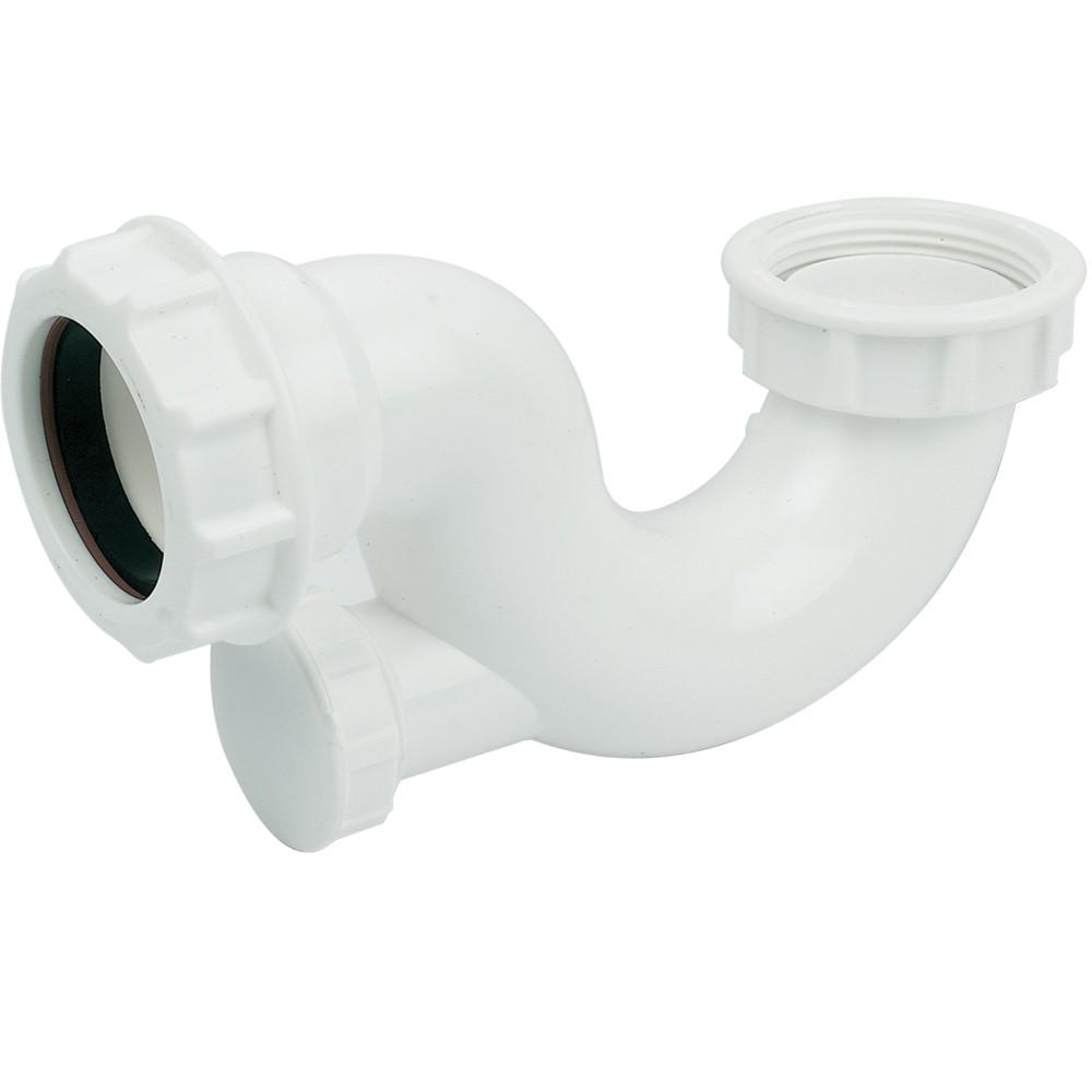 40mm Shallow Bath Trap (20mm Seal) c/w Cleaning Eye REF TSB42
