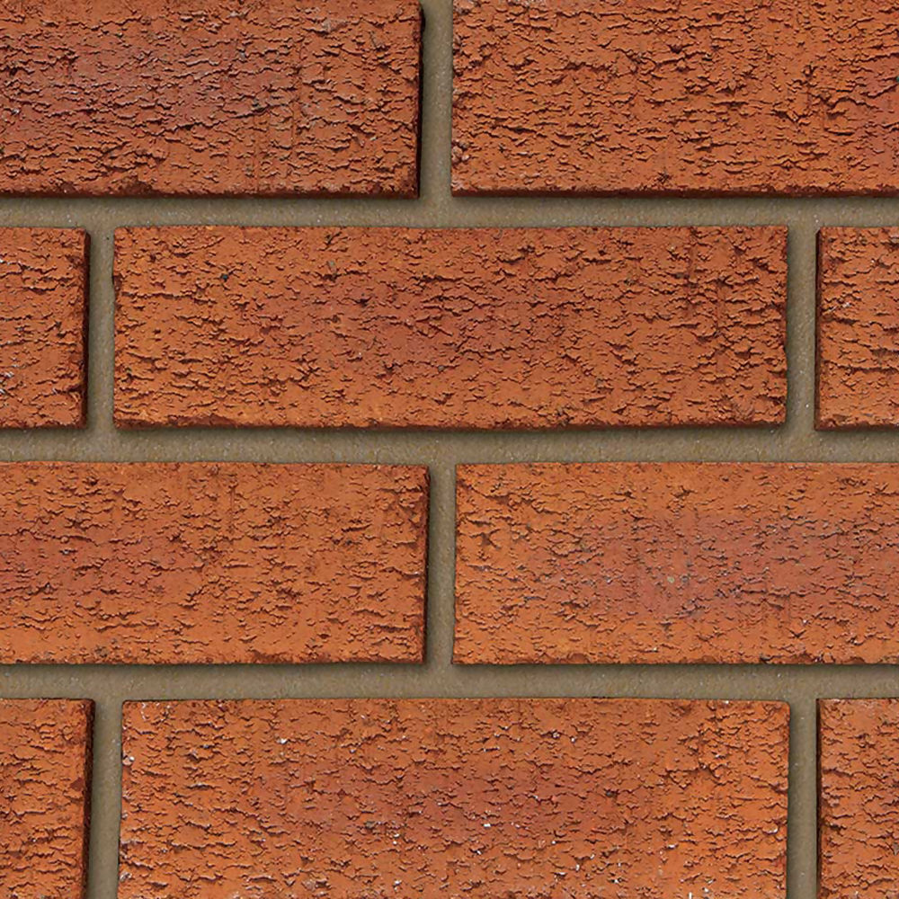65mm Hearted Red Rustic Brick 500no per pack