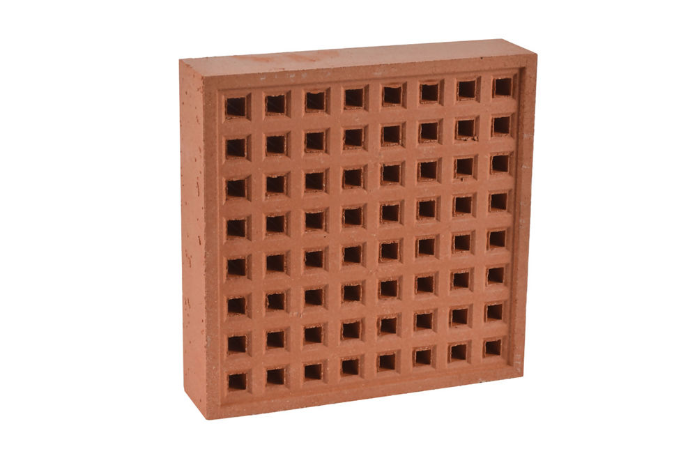 Square Hole Air Brick 215 x 215mm Red - Terra Cotta  352RE2222