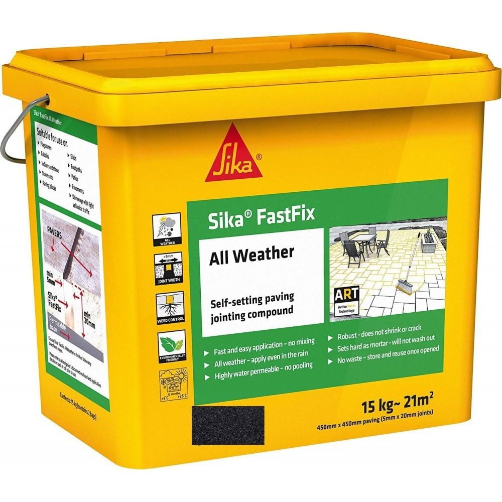 Sika Fastfix All Weather Paving Jointing Compound Charcoal 15Kg Ref SKFFIXCHR16