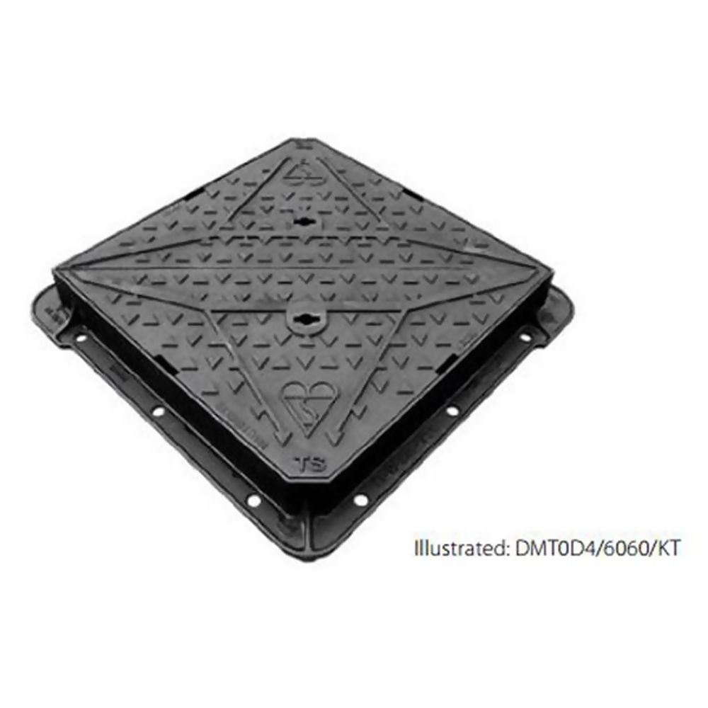 Ductile Iron Ma60 600 x 600 x 100mm Manhole Cover and Frame D400