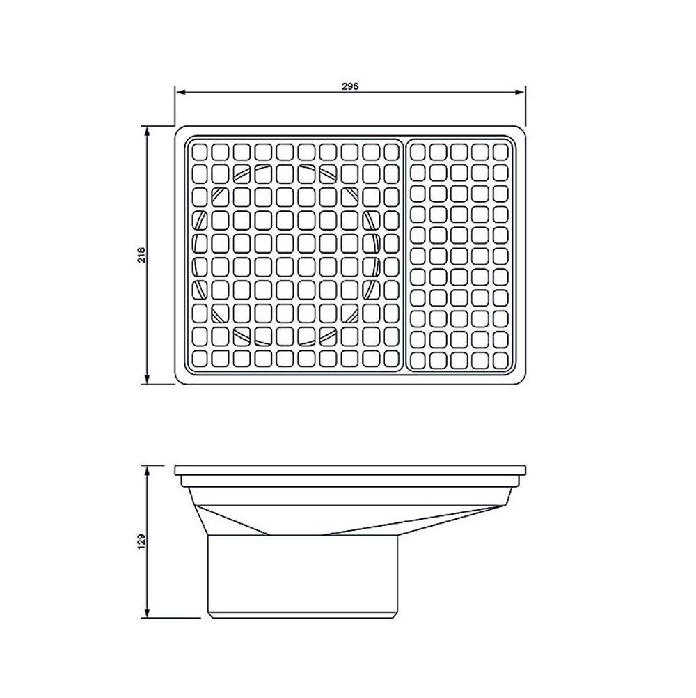 Rectangular Hopper And Grid REF D524