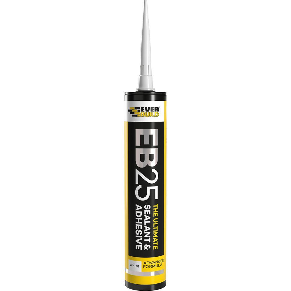 Everbuild EB25 The Ultimate Sealant And Adnesive White  Ref