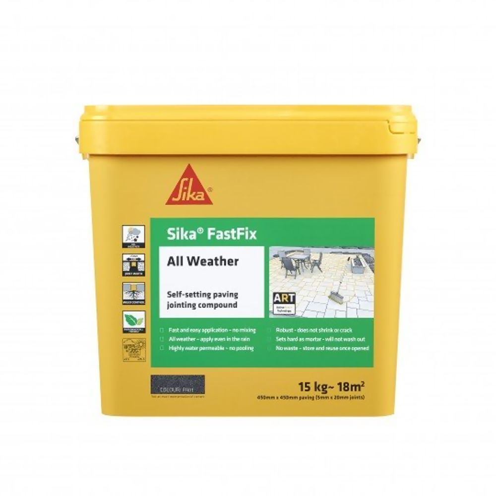 Sika Fastfix All Weather Paving Jointing Compound Flint 15Kg Ref SKFFIXFLT16