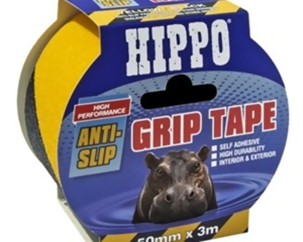 Hippo 50mm Grip Tape Yellow / Black 3mtr Ref H18417