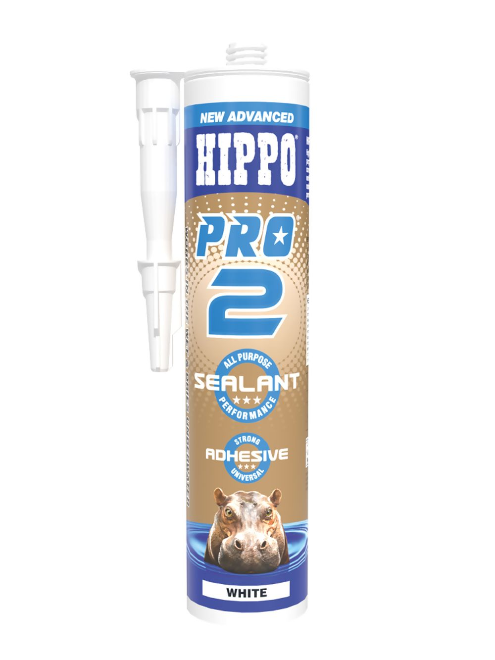 Hippo Pro 2 Sealant & Adhesive White 310ml Ref H18502