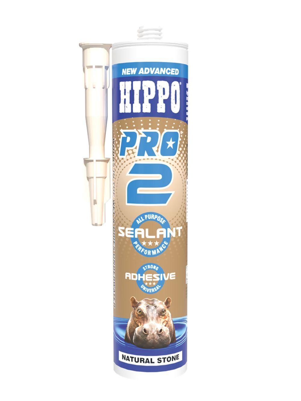 Hippo Pro 2 Sealant & Adhesive Nat Stone 310ml Ref H18541