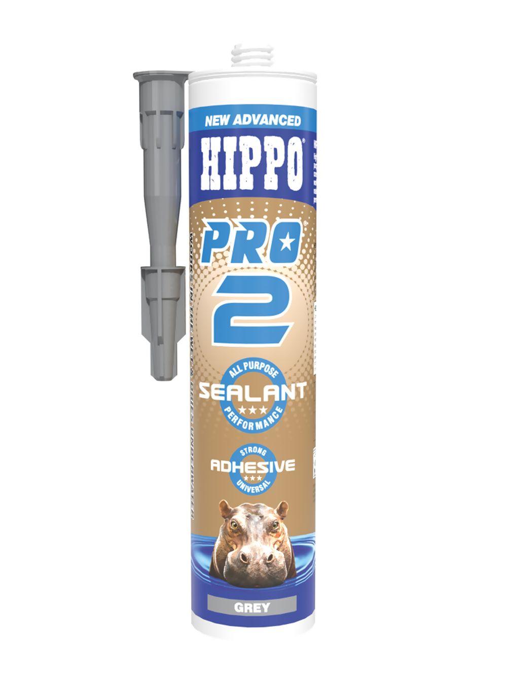 Hippo Pro 2 Sealant & Adhesive Grey 310ml Ref H18542