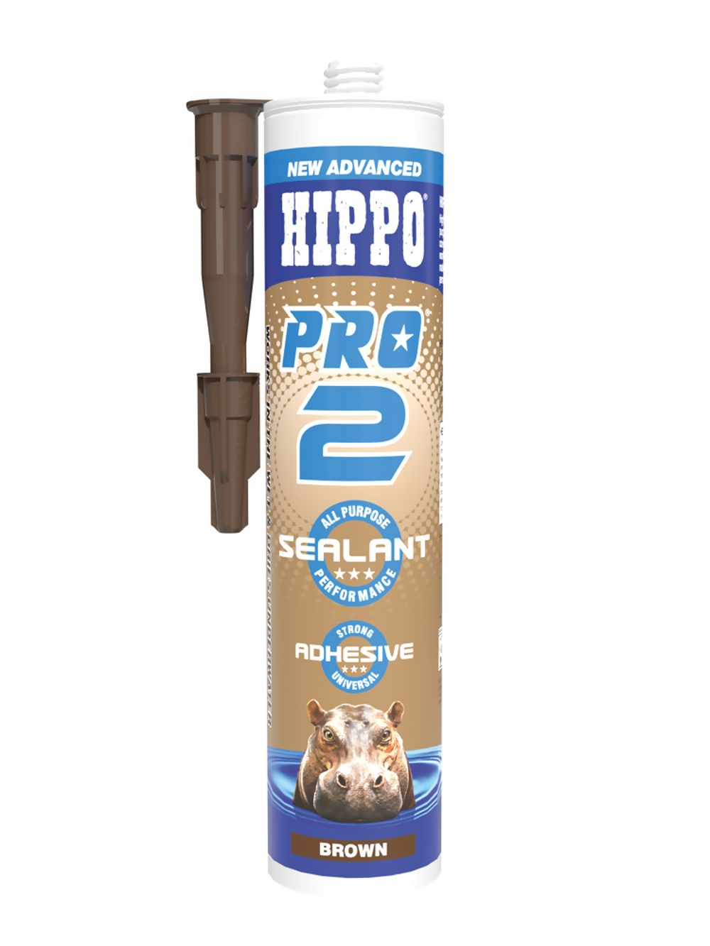 Hippo Pro 2 Sealant & Adhesive Brown 310ml Ref H18543