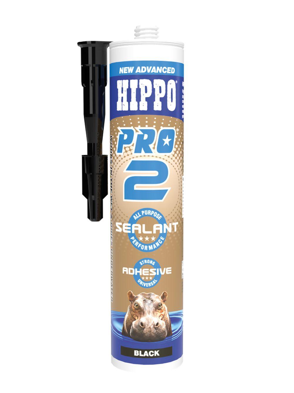 Hippo Pro 2 Sealant & Adhesive Black 310ml Ref H18544