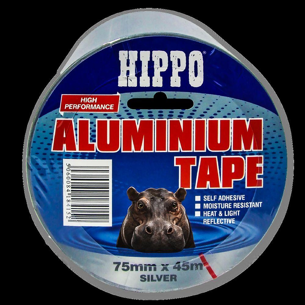 Hippo 75mm Aluminium Tape 45mtr Ref H18415