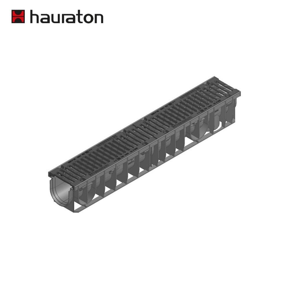 Hauraton Recyfix NC100 Channel Drain 1000mm C/W Heelsafe E600 Grating Ref 48770