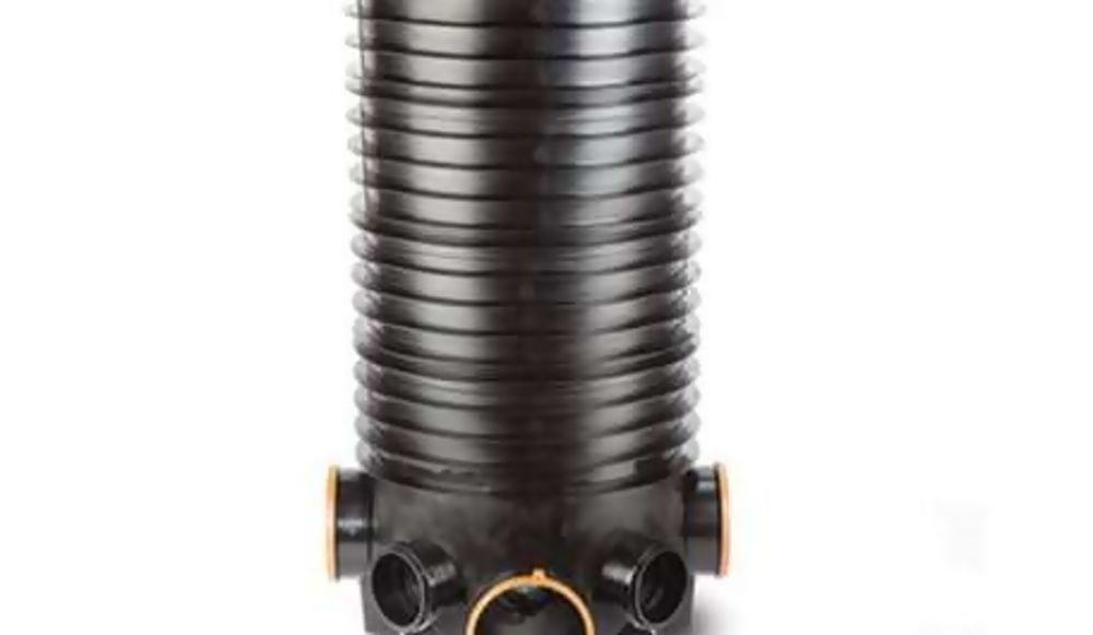 ICDB1 460mm Dia x 1060mm  Deep Chamber c/w 2 x 150mm (Polysewer) 90 Deg & 2 x 110mm x 45 Deg  REF  ICDB1
