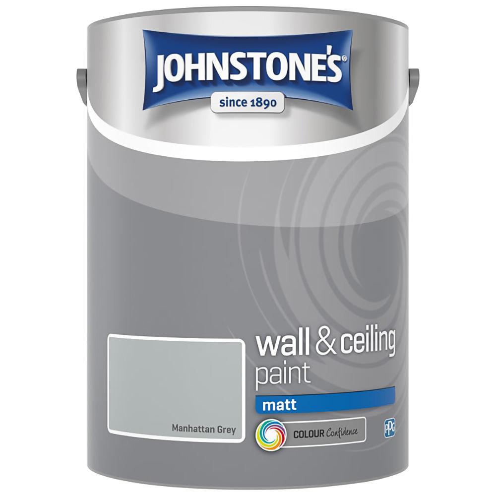 Johnstones Manhattan Grey Vinyl Matt 10Ltrs Ref 308819
