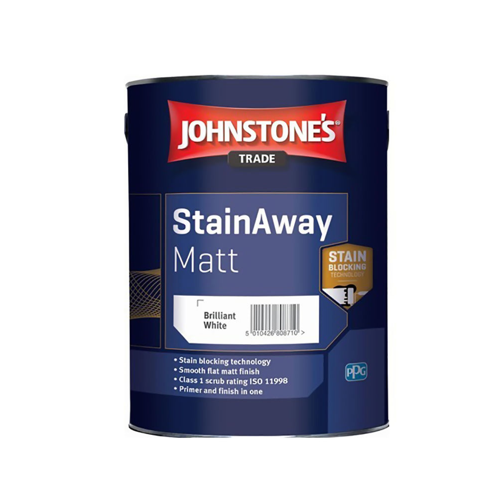 Johnstones Stain Away Matt White 2.5Ltrs Ref 421699