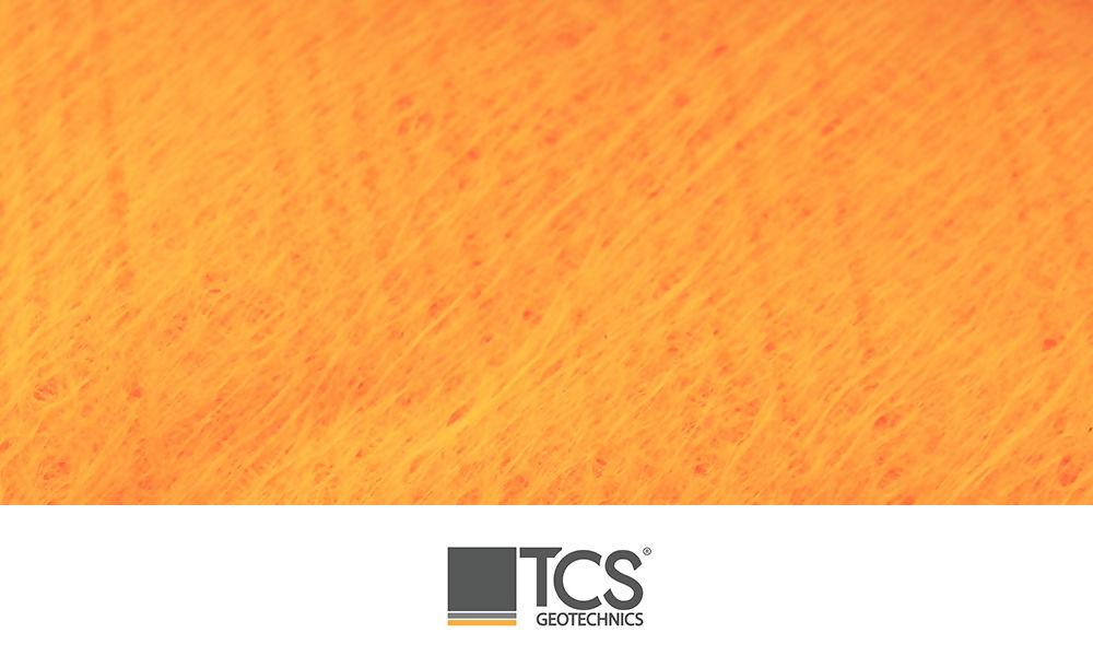 Orange Non Woven Geotextile 4.5m x 100m Ref TS1000
