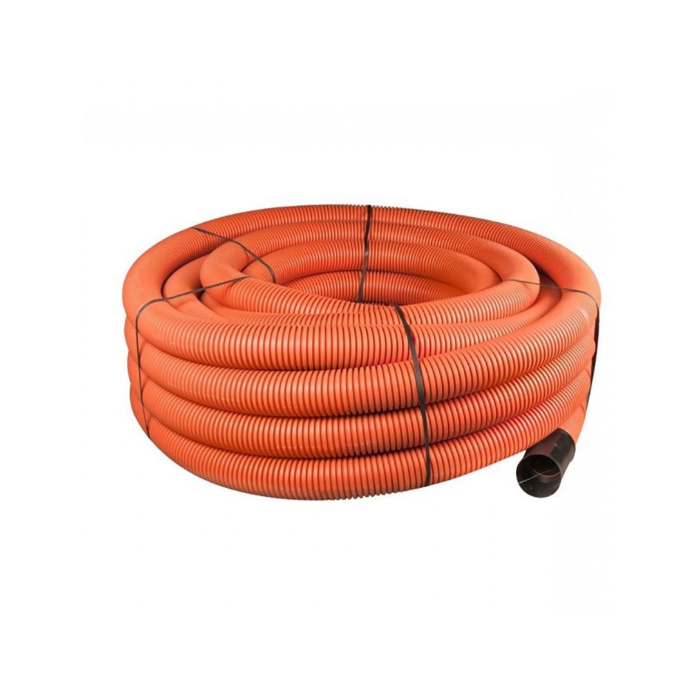 Orange Plain Ducting Pipe x 50m Coil 50/63mm Ref 29037