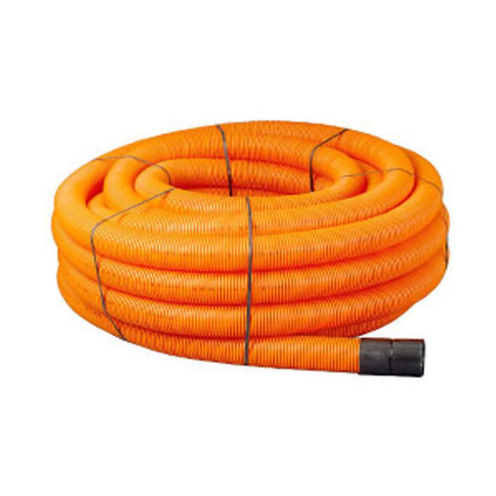Orange Plain Ducting Pipe x 50m Coil 94/110mm Ref 29047