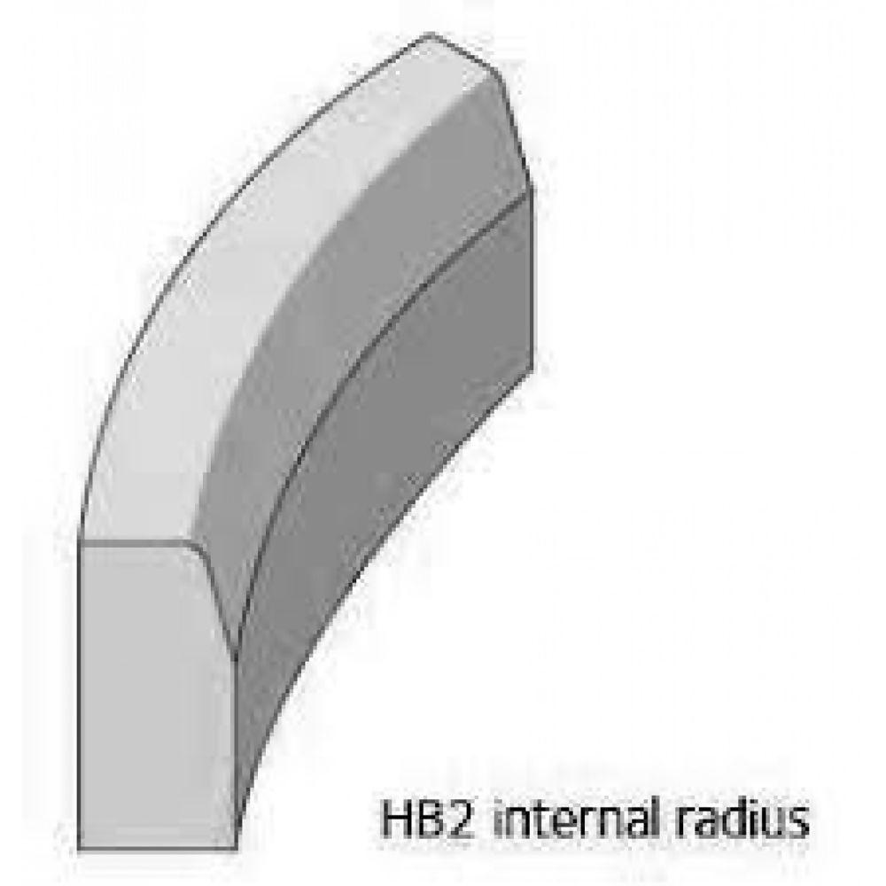 Radius Charcon Half Battered Kerb Internal 10Mtr 125 x 255mm