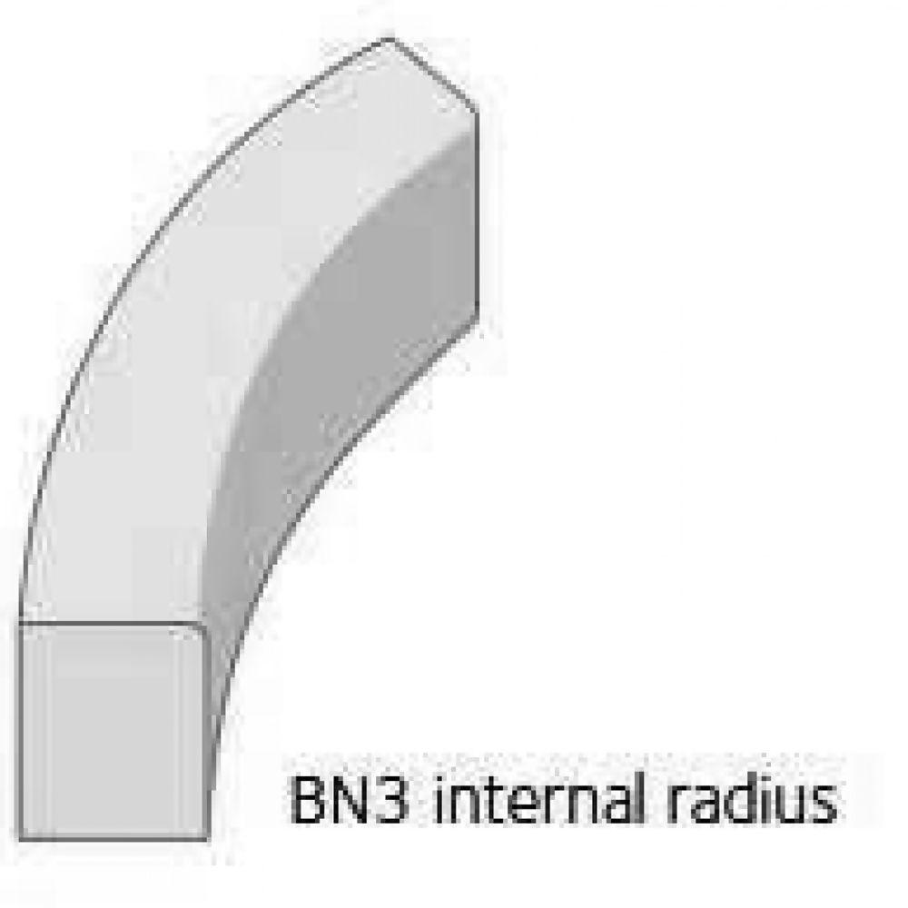Radius Kerb Charcon Bullnosed External 2mtr 125  x  150mm