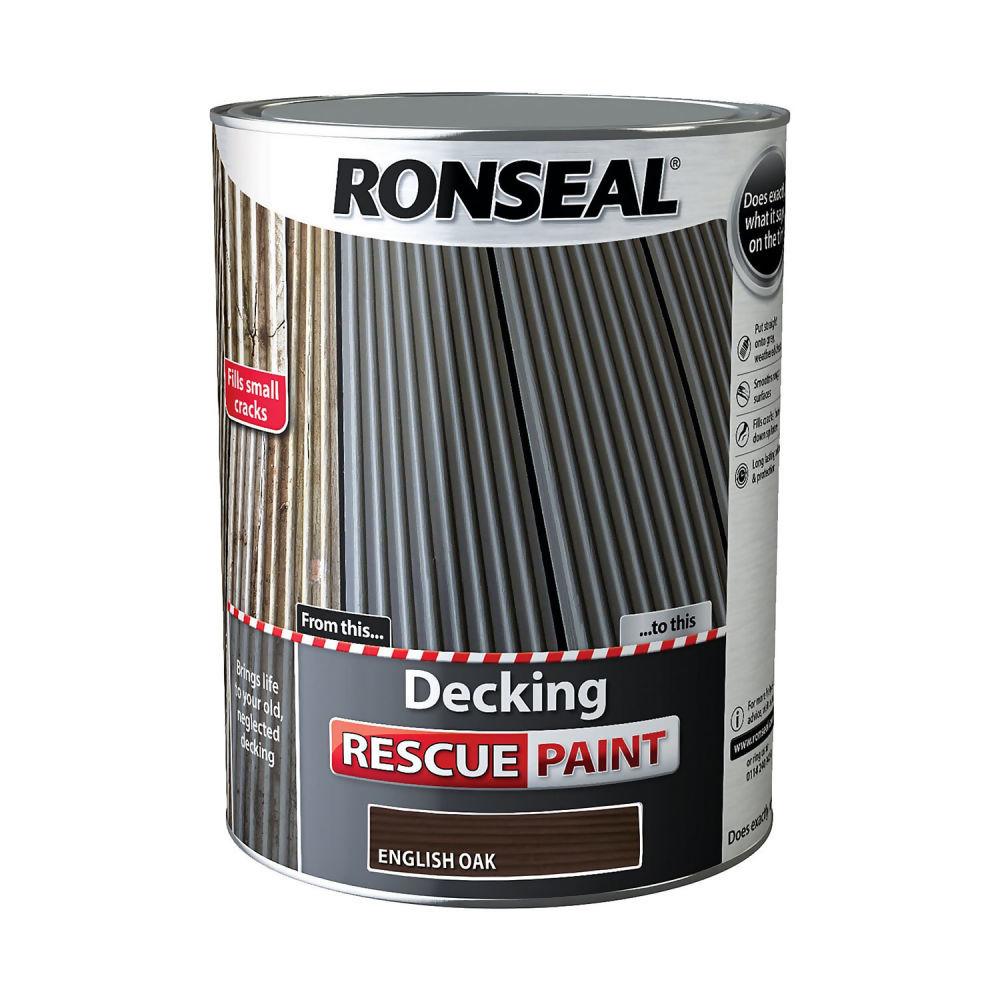 Ronseal Decking Rescue Paint 5Ltr English Oak