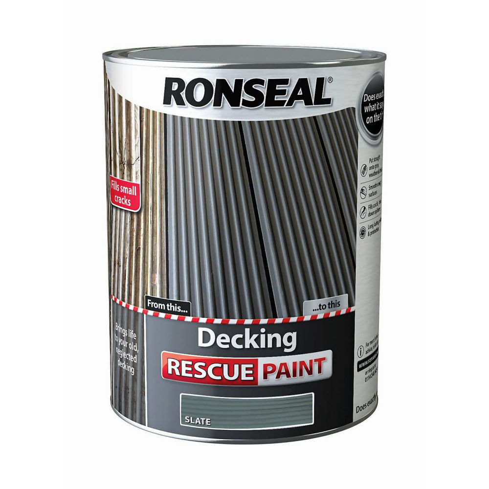 Ronseal Decking Rescue Paint 5Ltr Slate