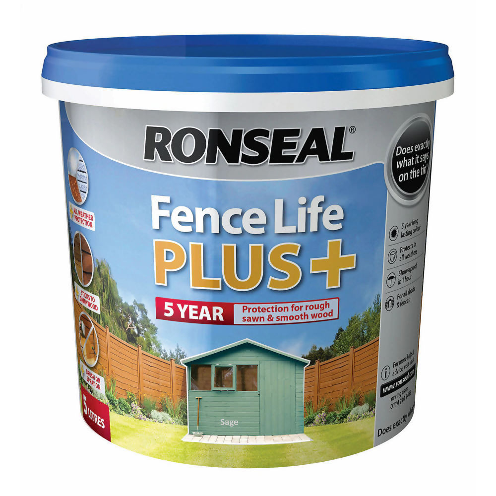 Ronseal Fence Life Plus 5ltr Sage