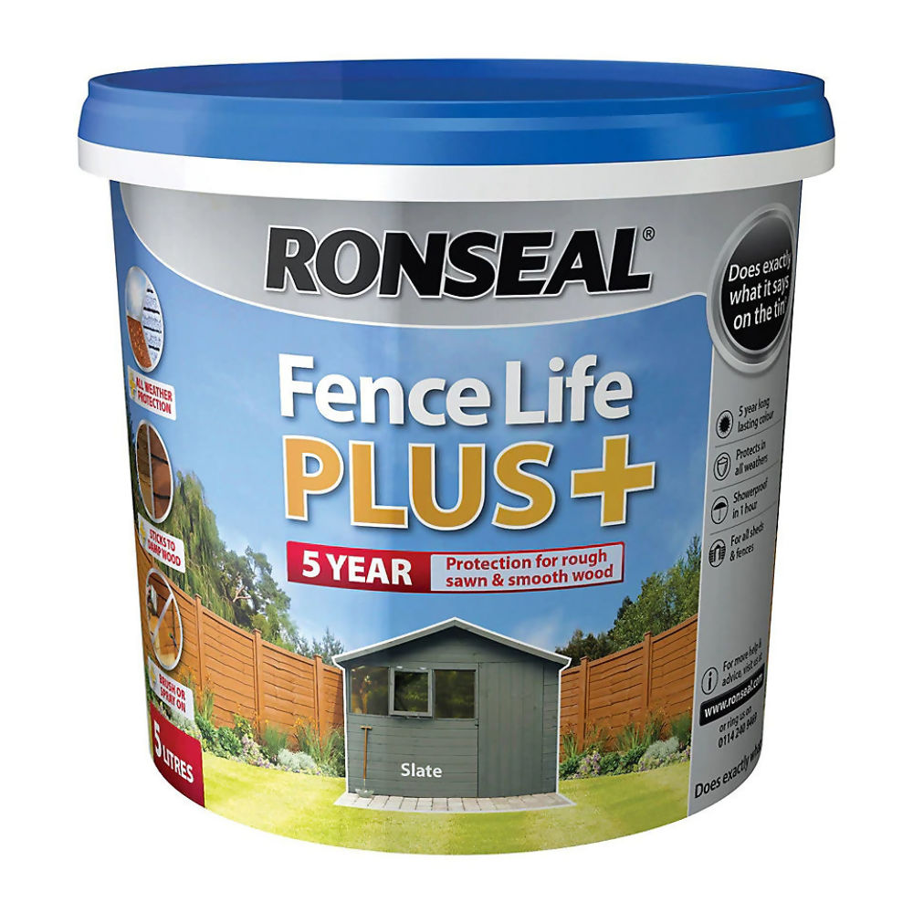 Ronseal Fence Life Plus 5ltr Slate