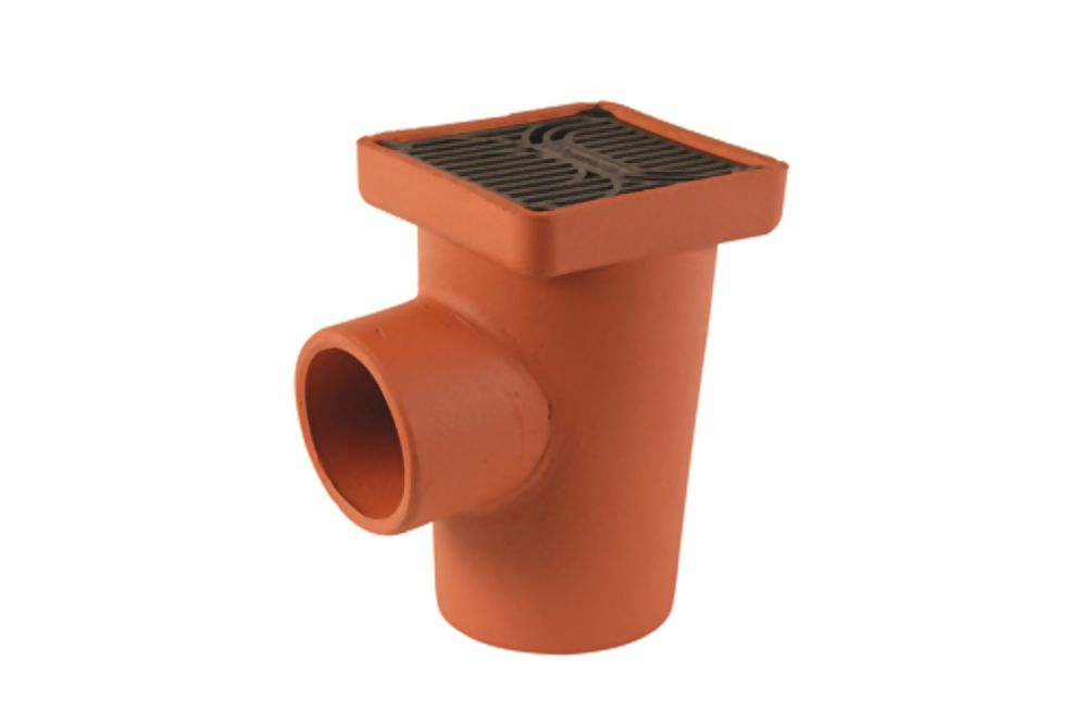 Supersleve Housedrain 150mm Square Gully 100mm P/Trap Ref SG2/1