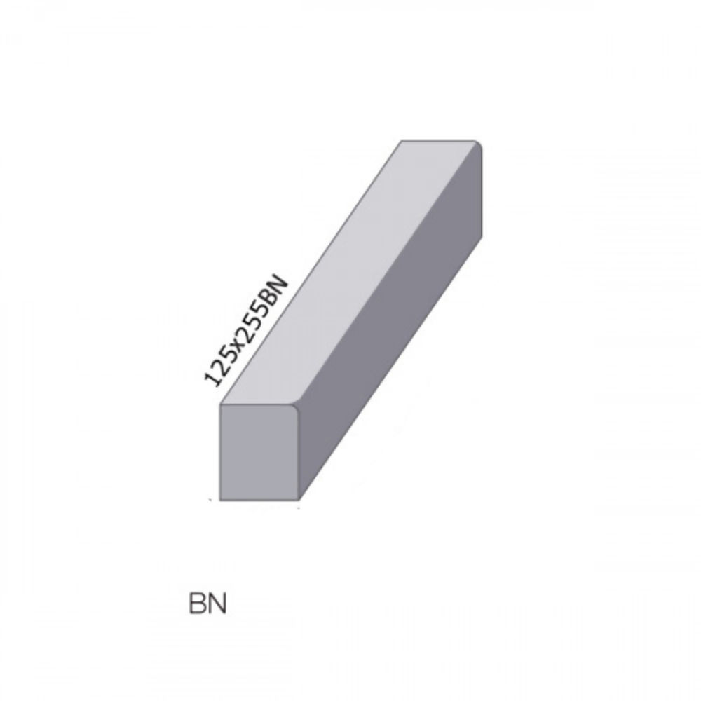 Straight Kerb Charcon Bullnosed  125 x 255mm