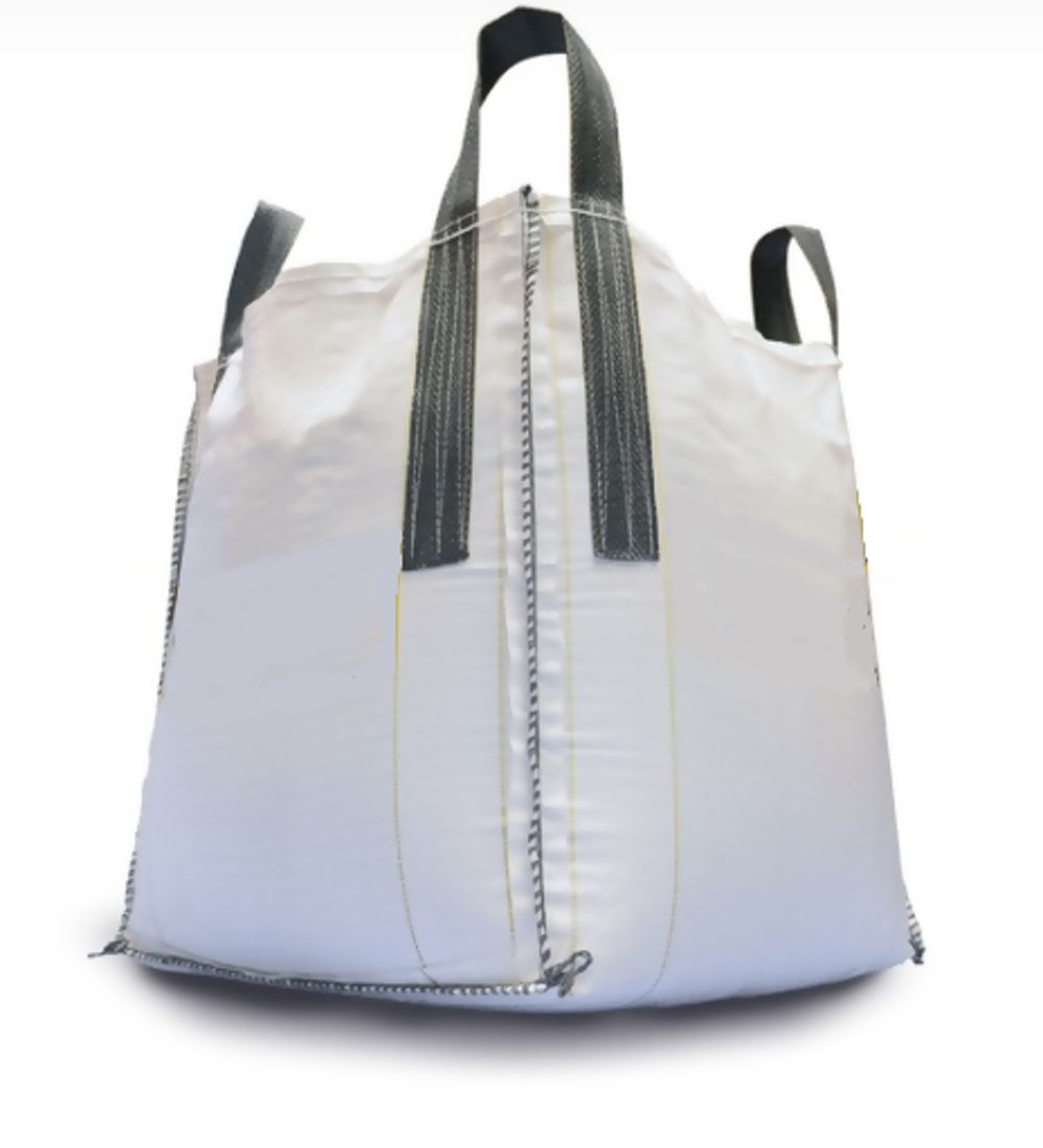 Plain White Taybag With Standard Loops And Emptying Spout 86x86x87cm