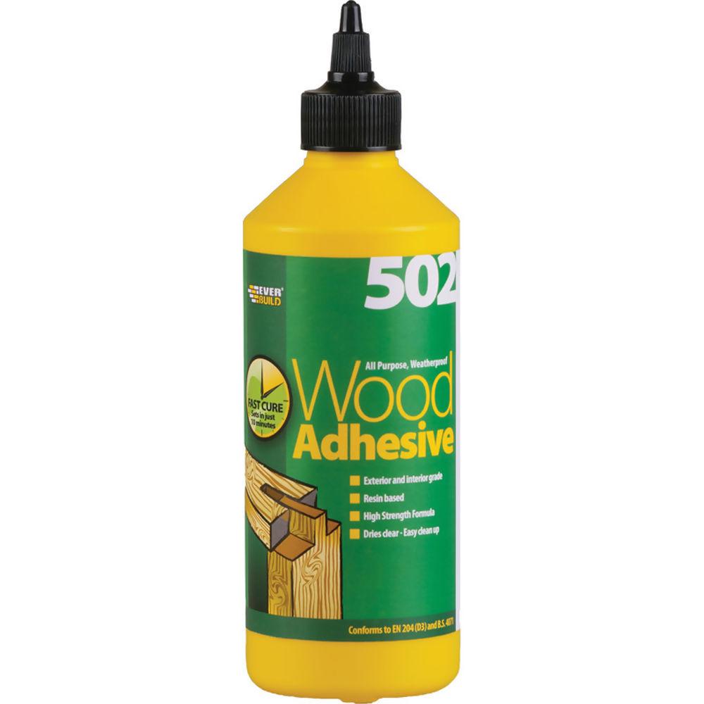 Wood Adhesive Weatherproof 500Ml Ref WOOD05