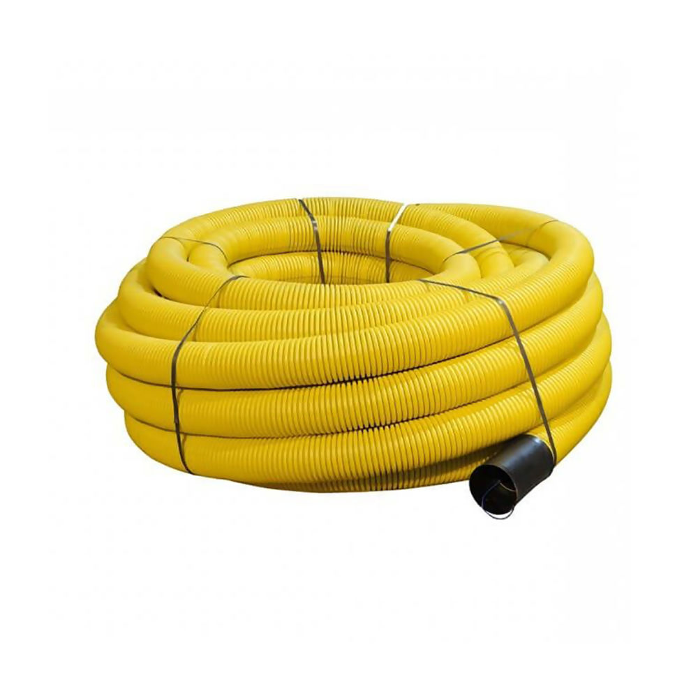 Yellow Plain Ducting Pipe x 50m Coil 94/110mm Ref 29050