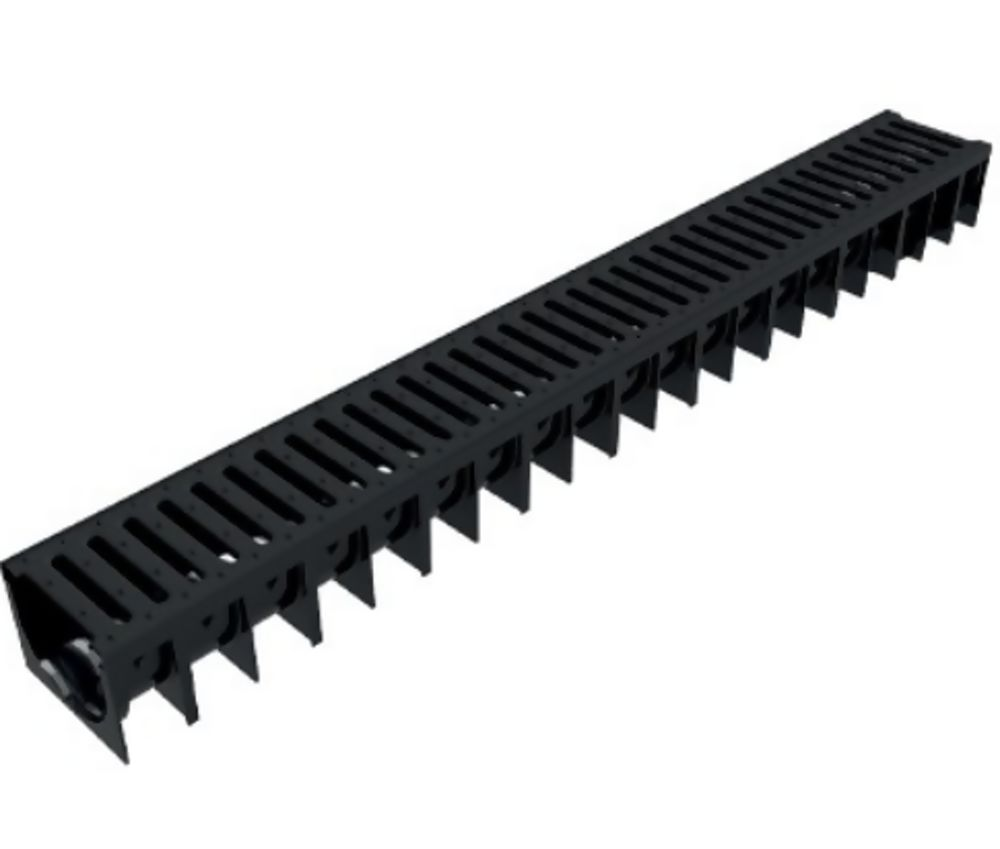 Aco A15 Channel Assembly C/W Black Plastic Grating 1000mm x 120mm x 92mm Ref 319704