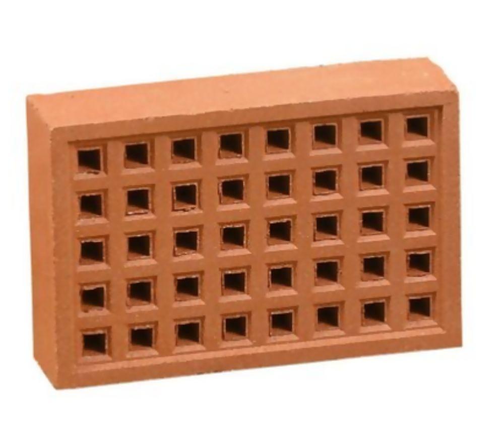 Square Hole Air Brick 215 x 140mm Red - Terra Cotta  351RE2214