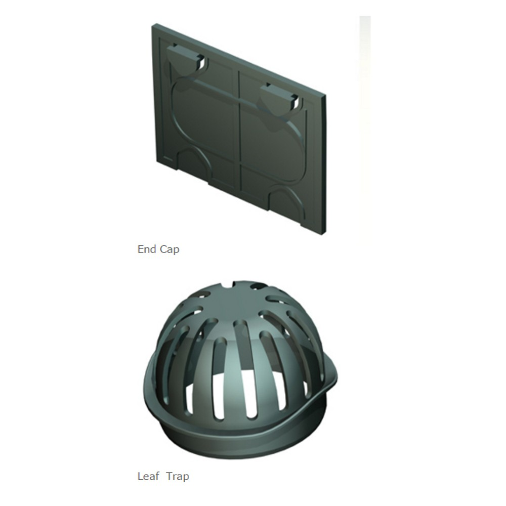 channel-drain-accessory-pack-2x-end-caps-1-x-leaf-guard-ref-gpd-ap