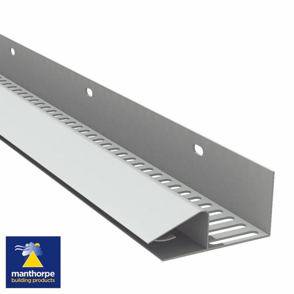 Continuous Soffit Strip Vent White 2 44mtr Ref G800wh