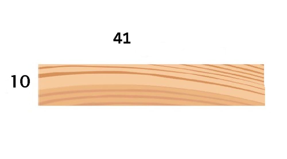 Redwood 41X10mm Fillet  [p]