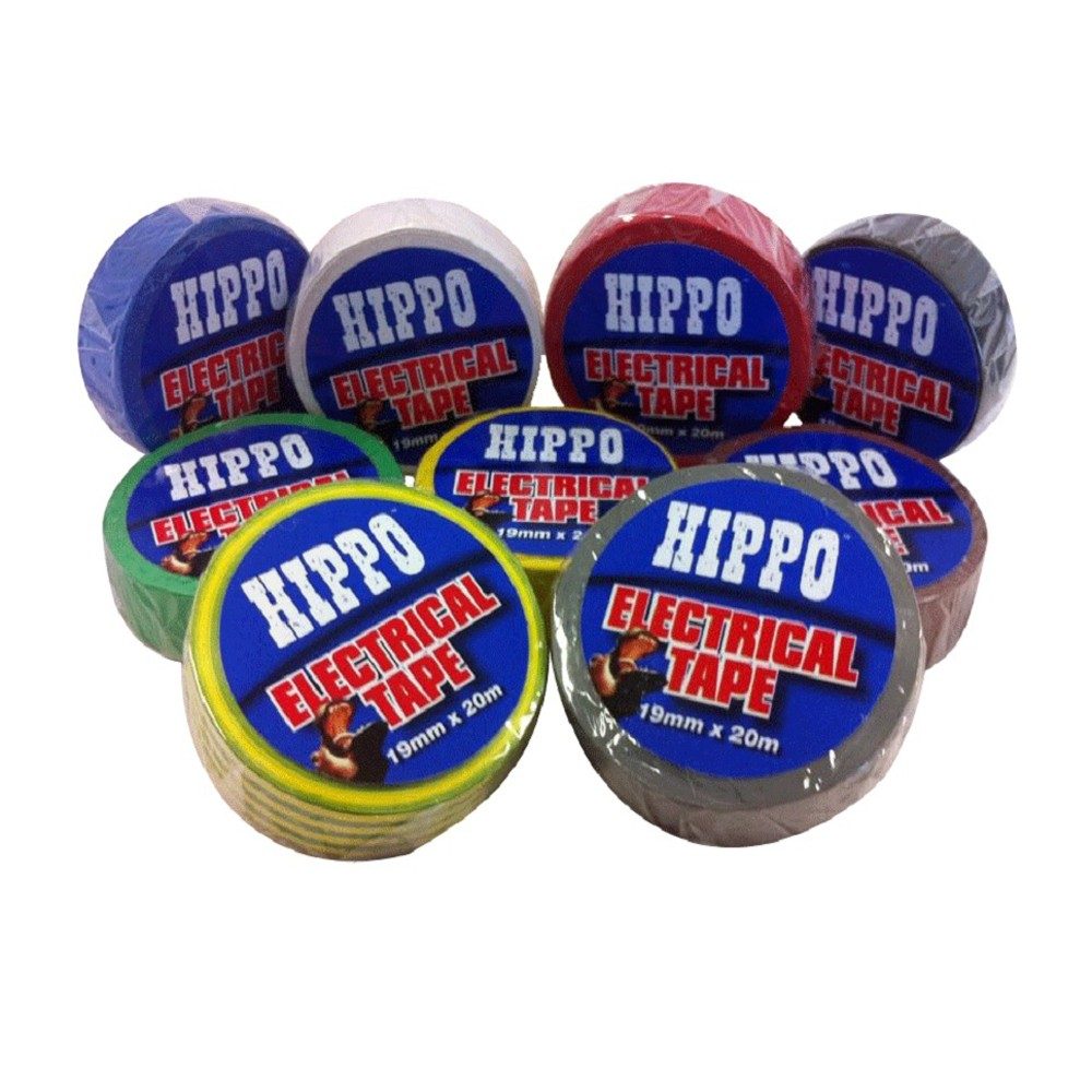 hippo-electrical-insulation-tape-19mmx20mtr-red-ref-h18422
