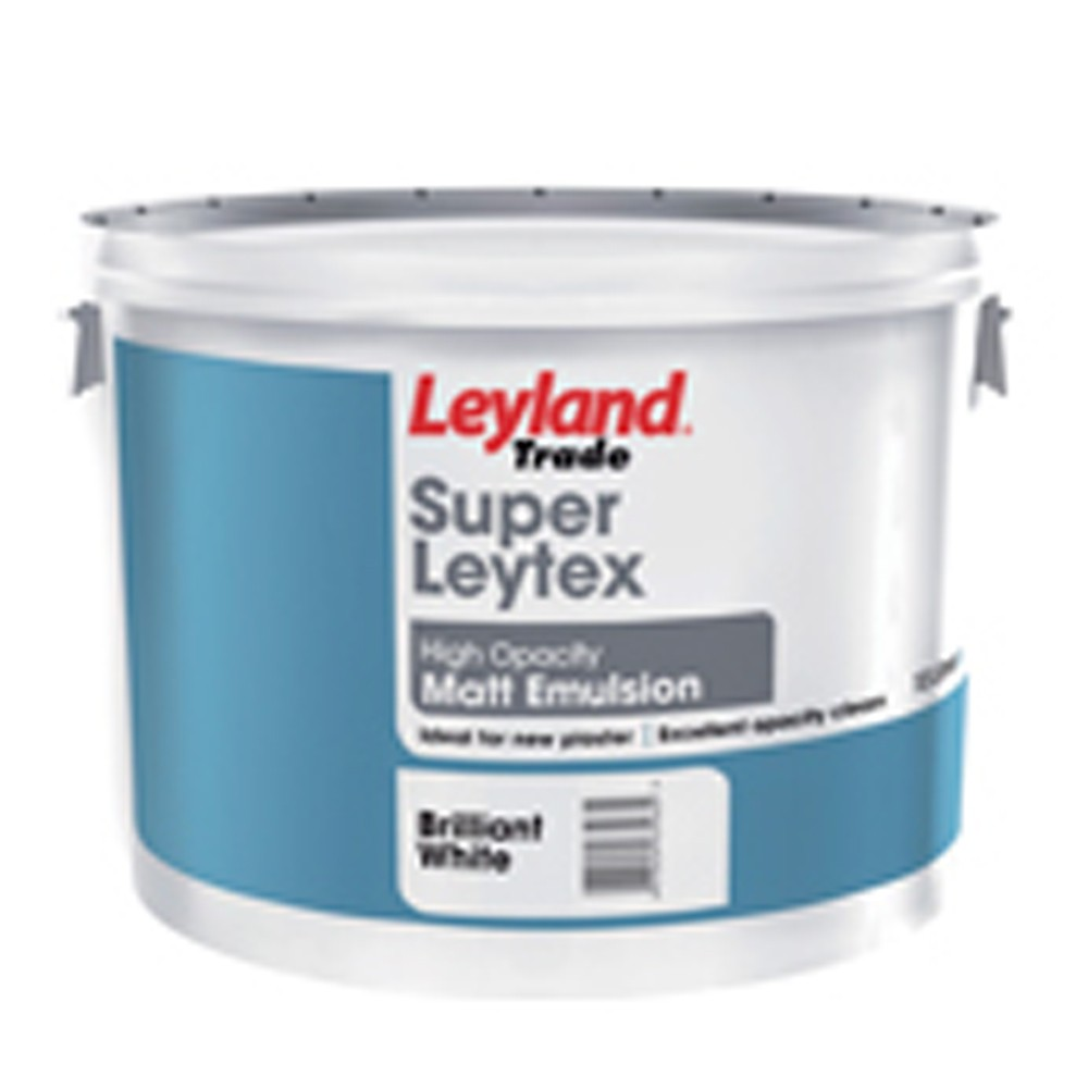 Leyland Super Latex New Plaster Matt Brilliant White 10Ltrs Ref 264706