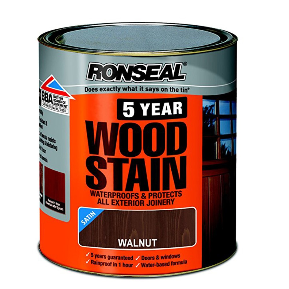 ronseal-trade-5-year-woodstain-satin-walnut-2-5ltr-ref-38570