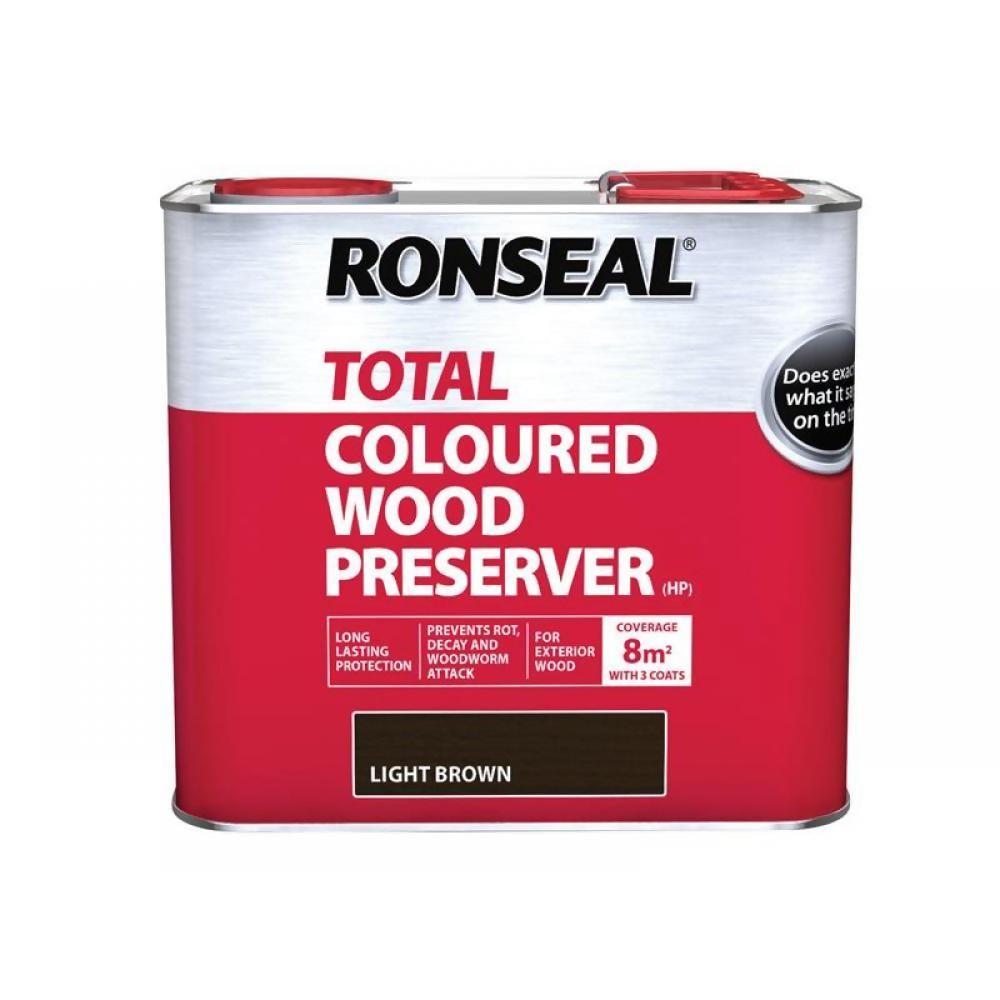 Ronseal Total Light Brown Wood Preserver 2.5Ltr Ref 38587