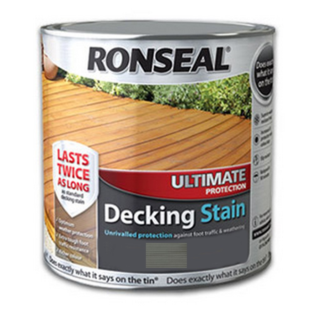 Ronseal Ultimate Decking Stain 2.5Ltr Stone Grey Ref 36911