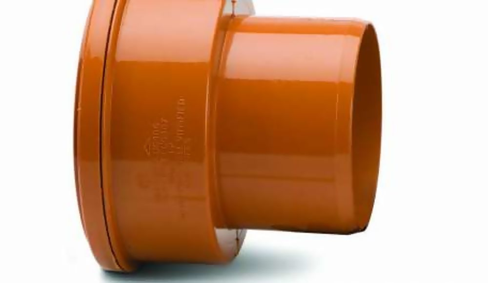 UG697 160mm Plastic to Thick Wall Clay Socket Adaptor To PVC Spigot