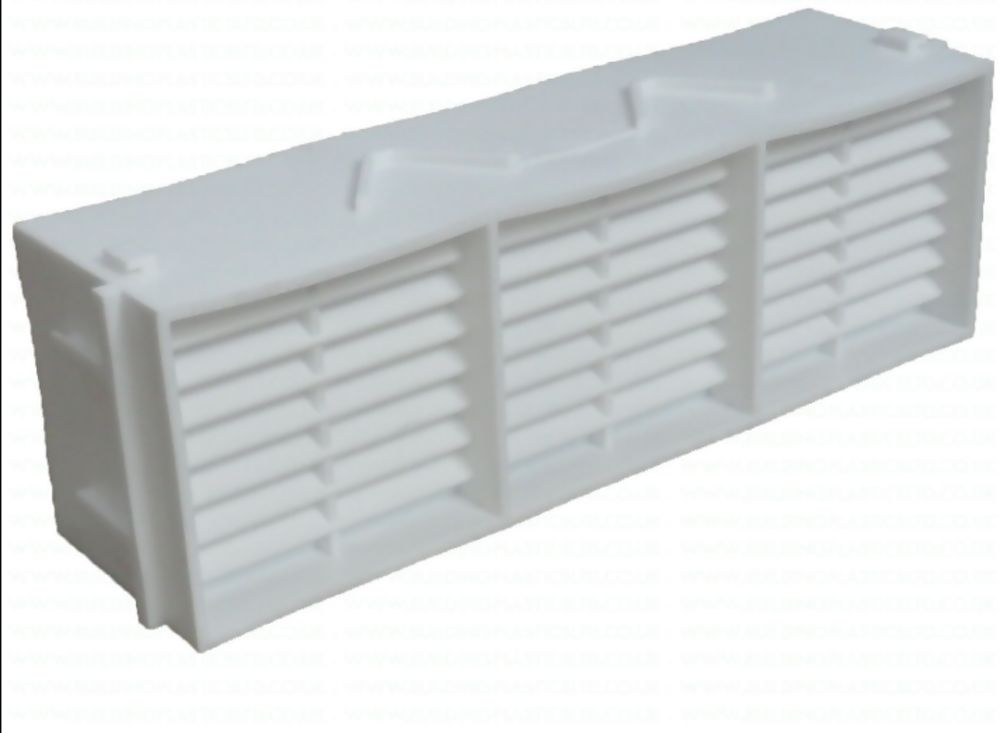Combination PVC Airbrick 225mm x 75mm White Ref G930WH